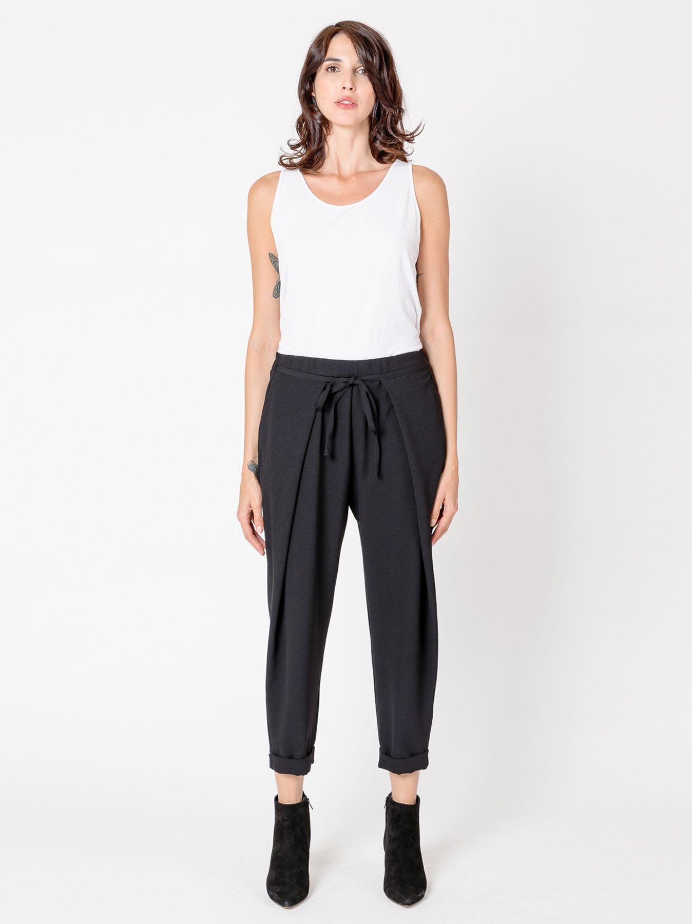 Pantalone morbido in crépe