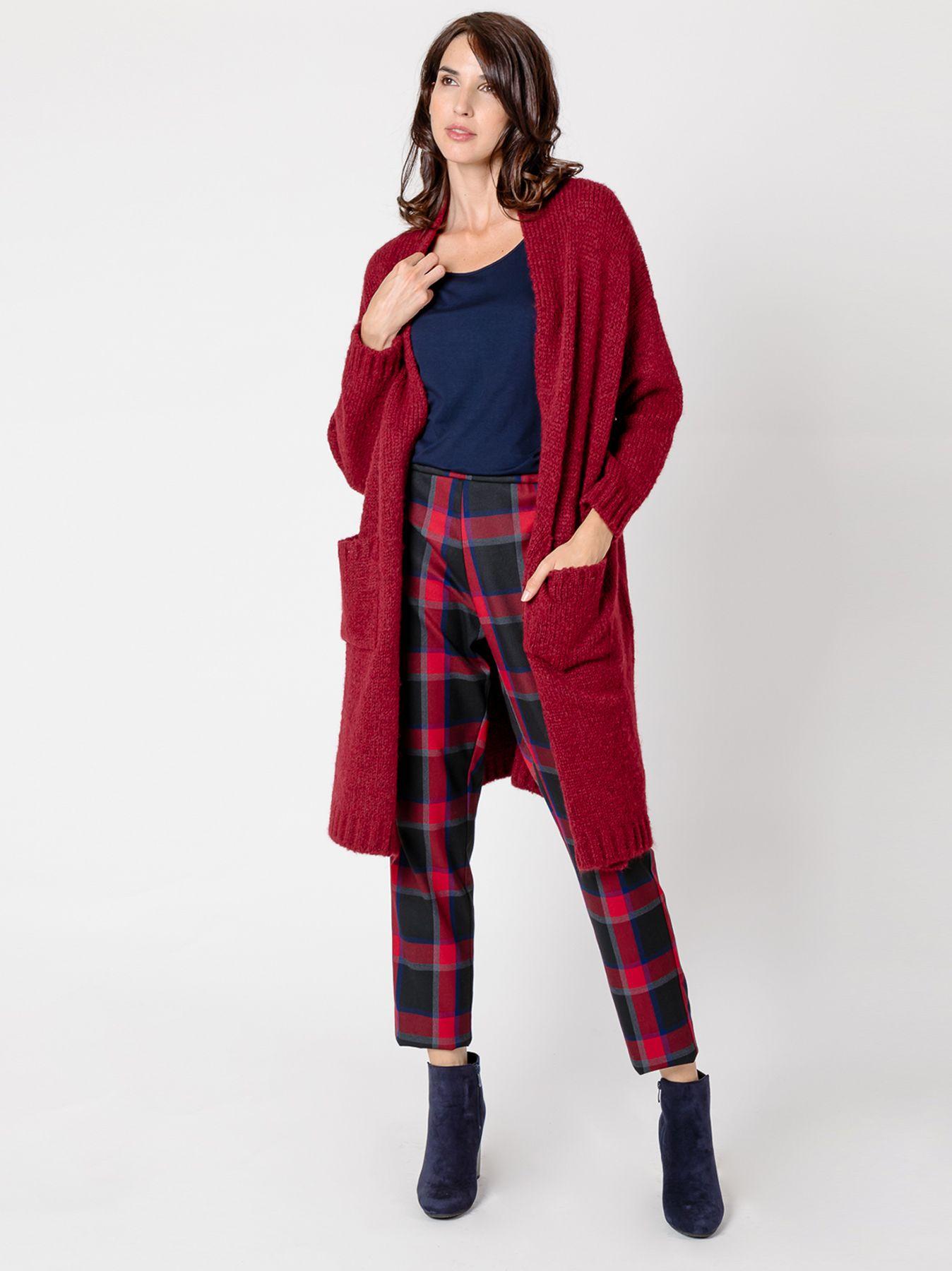 Maxi cardigan in maglia