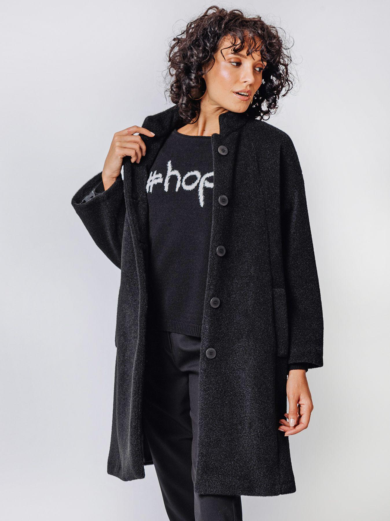 Over coat in lana cotta mano velour