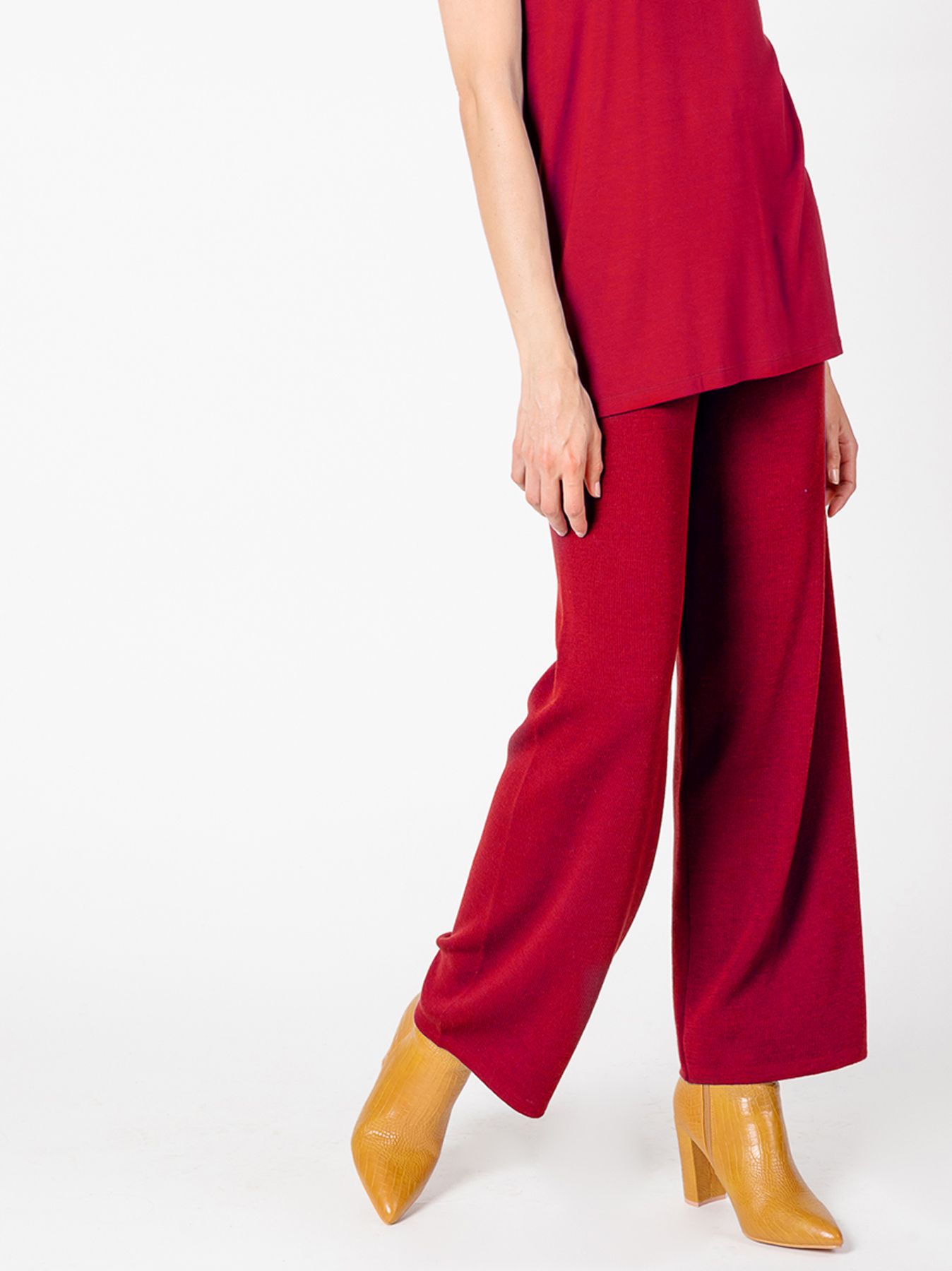 Pantalone elastico ROSSO GRANATA