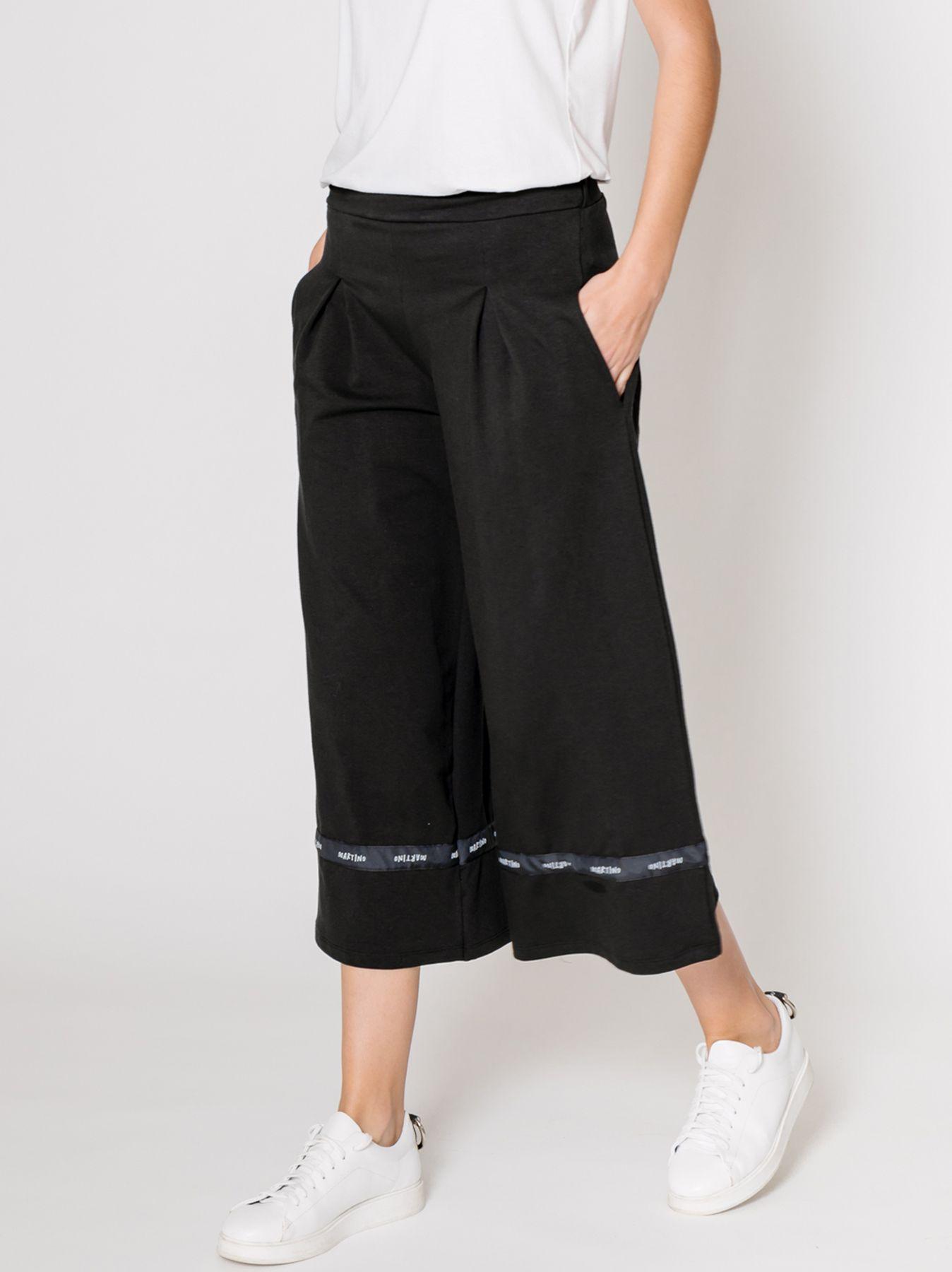 Pantalone in felpa con nastro logato