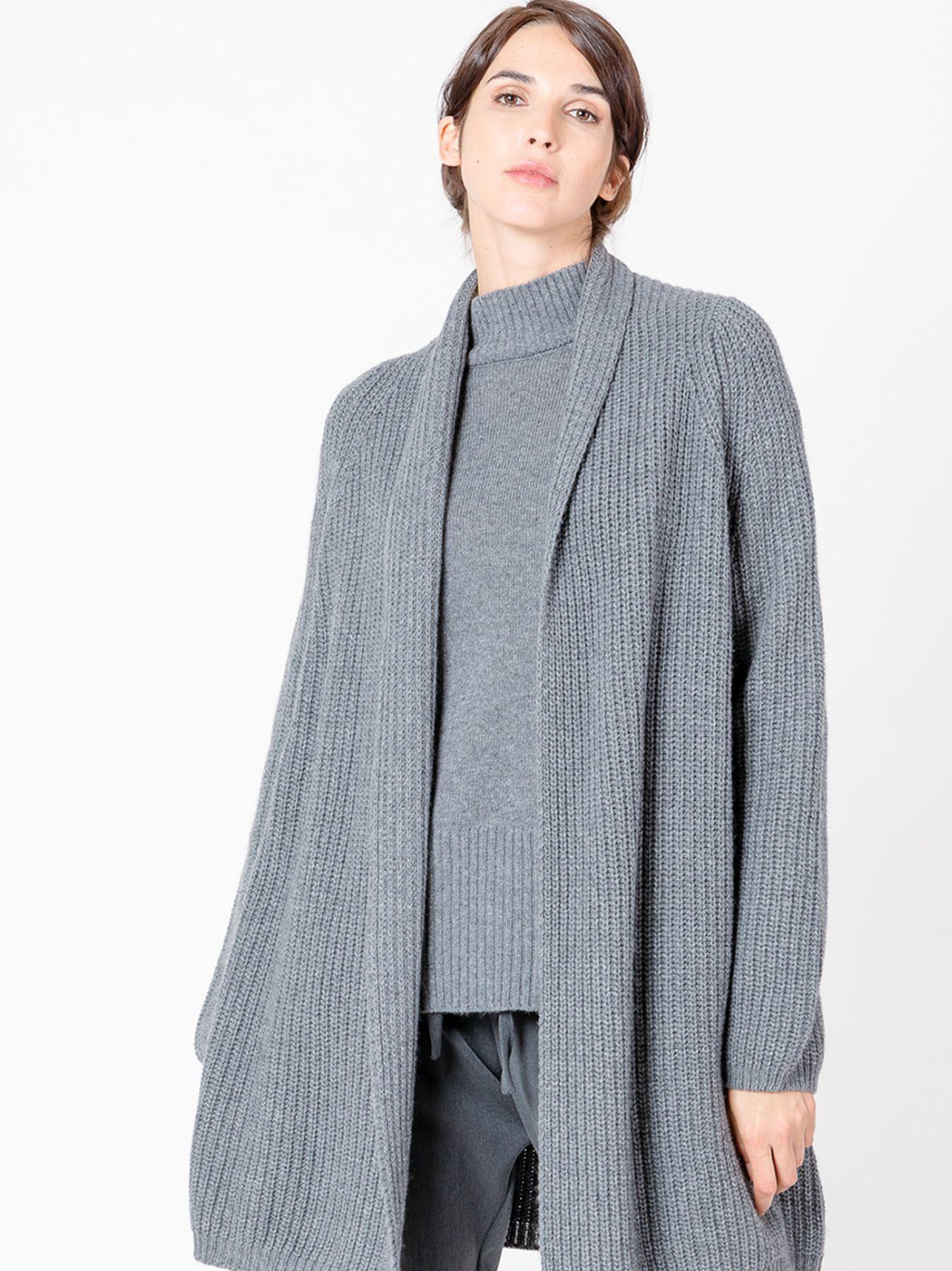 Cardigan in maglia con cashmere