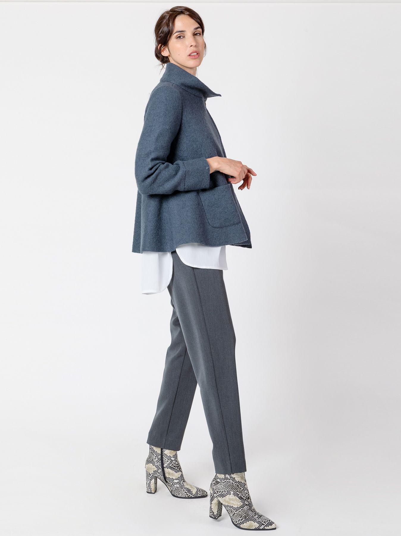 Giacca in lana cotta