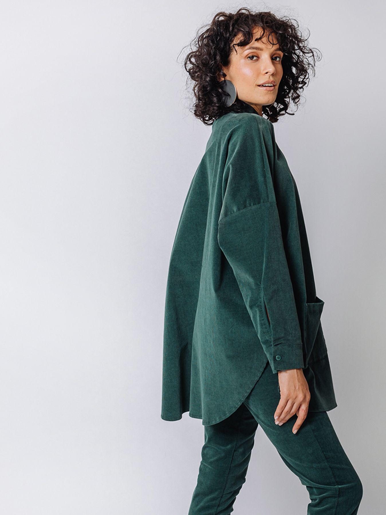 Corduroy shirt jacket