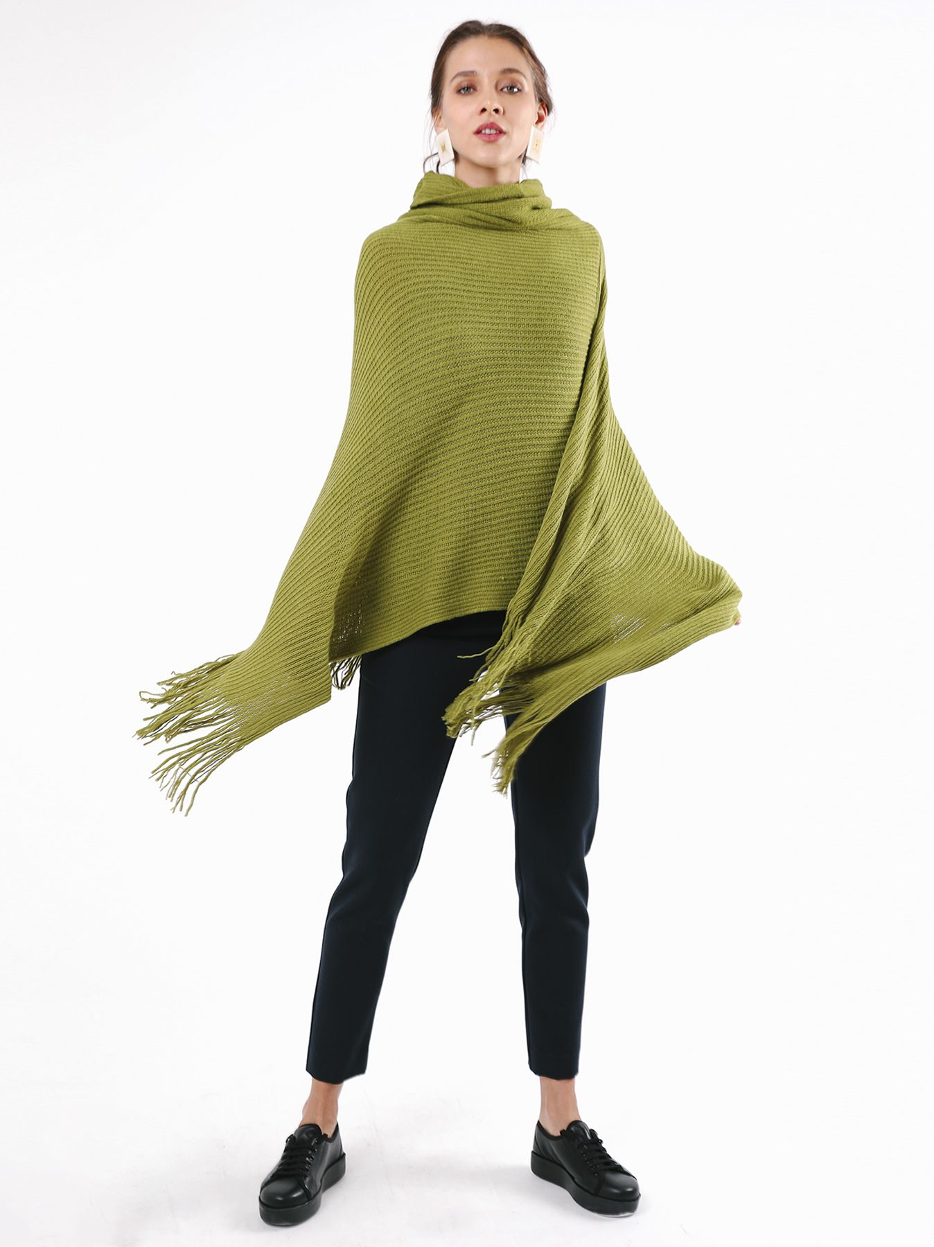 Poncho in maglia