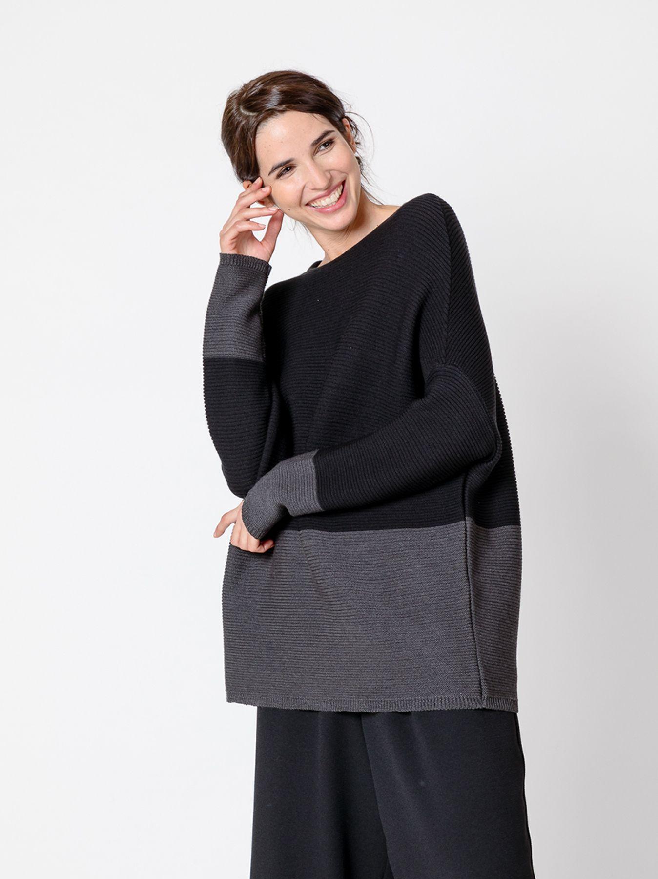 Maglia Bicolore Black & Grey