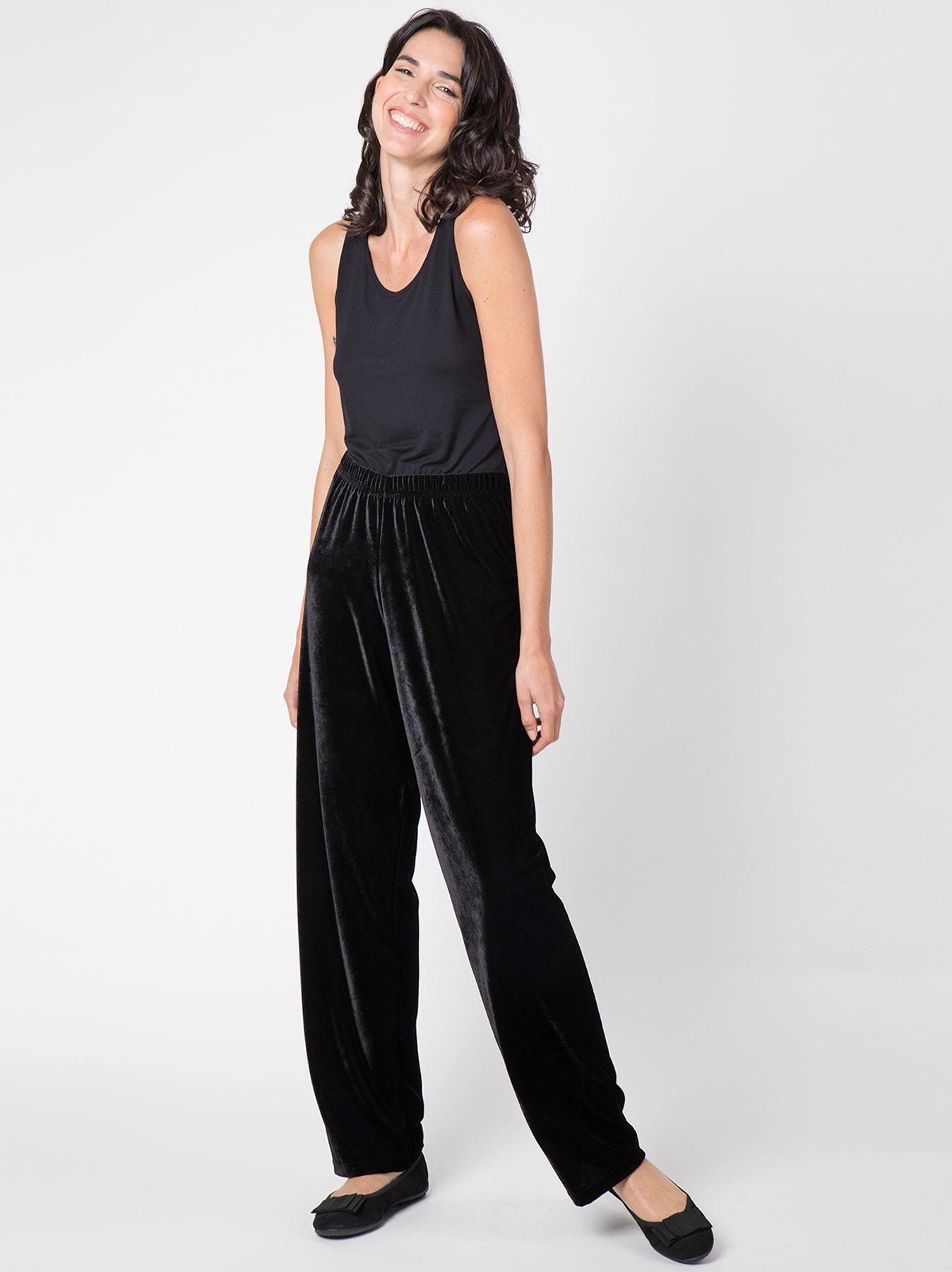Pantalone morbido in velluto NERO