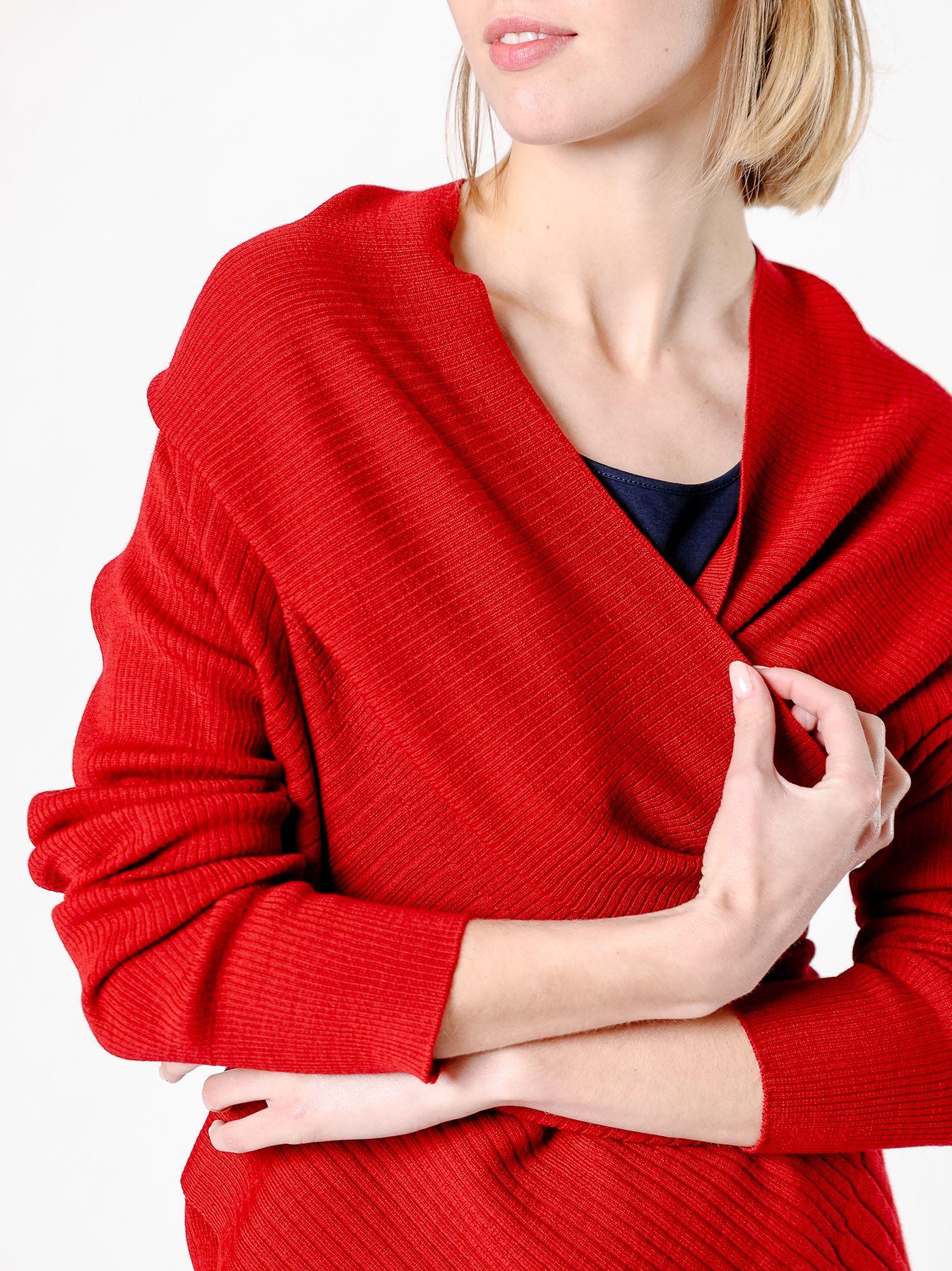 Cardigan fazzoletto in maglia