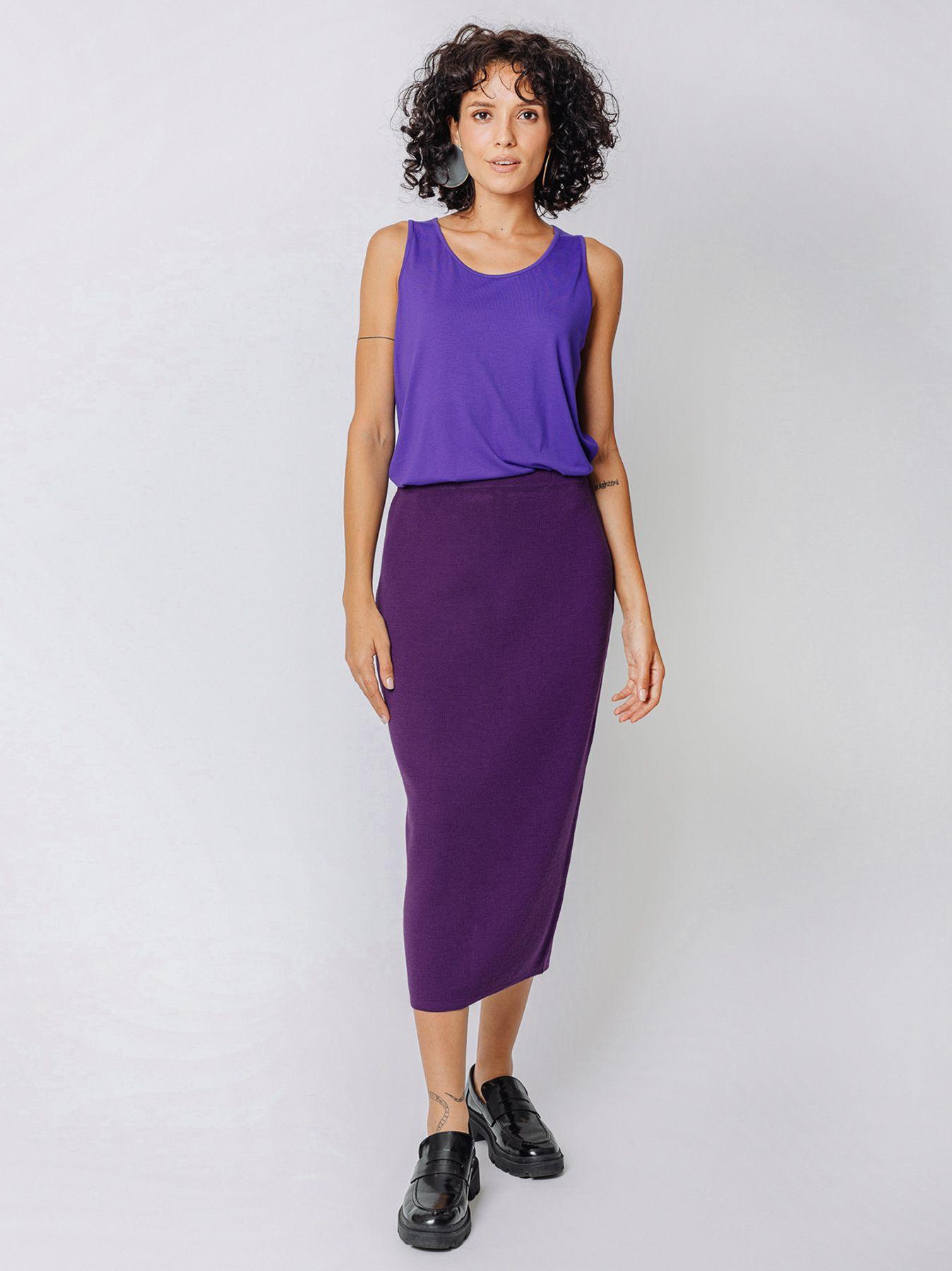 Long skirt in knit