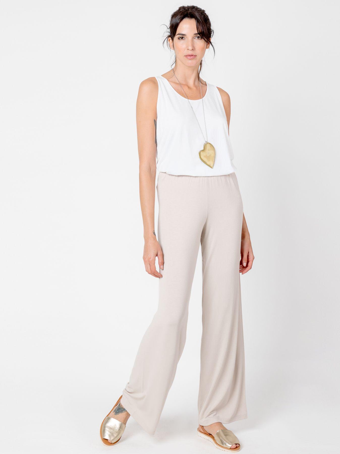 Pantalone elastico BIANCO NATURALE