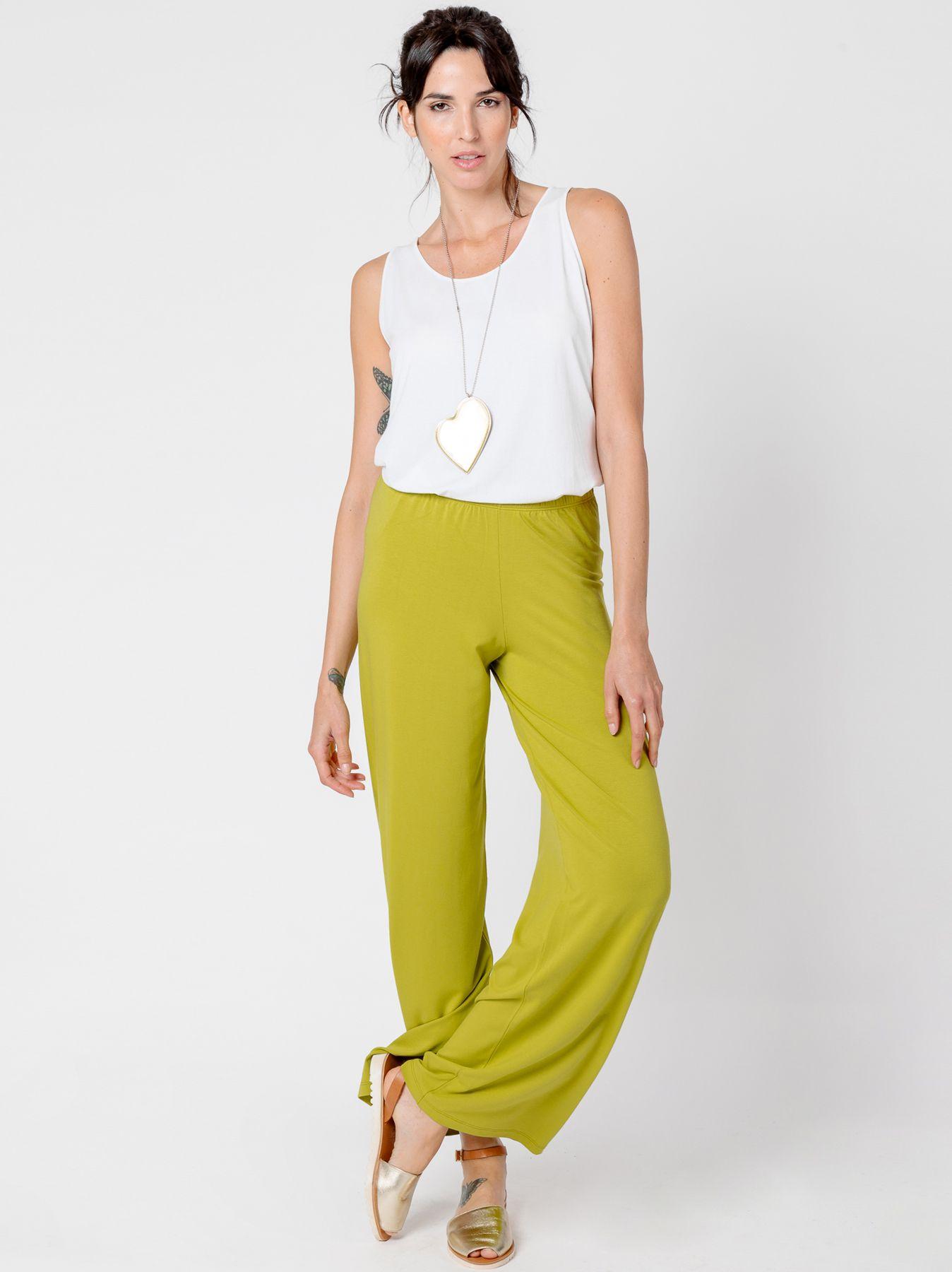 Pantalone elastico VERDE ACIDO