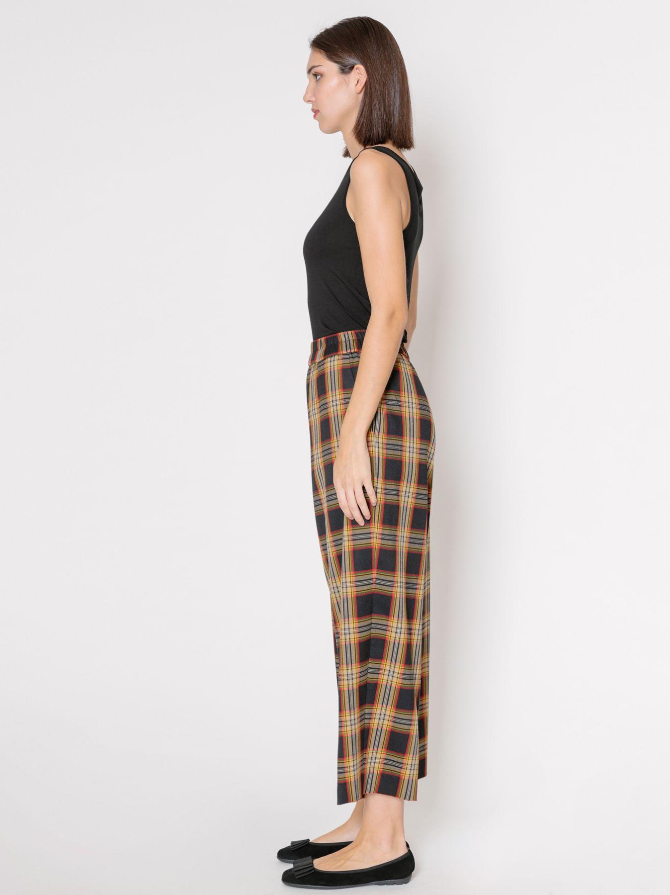 Pantalone gaucho check