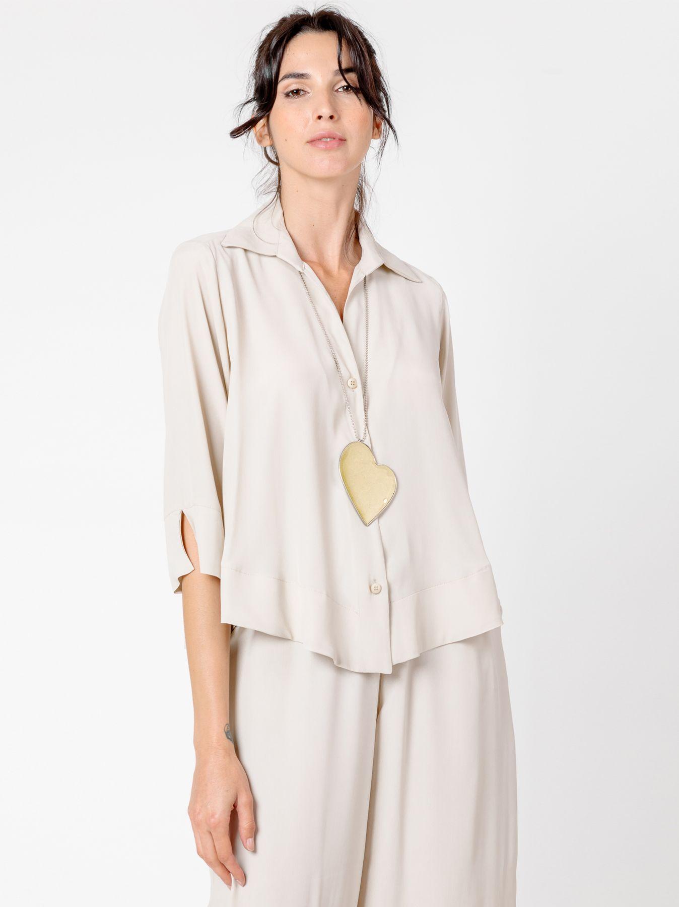 Camicia svasata in misto seta