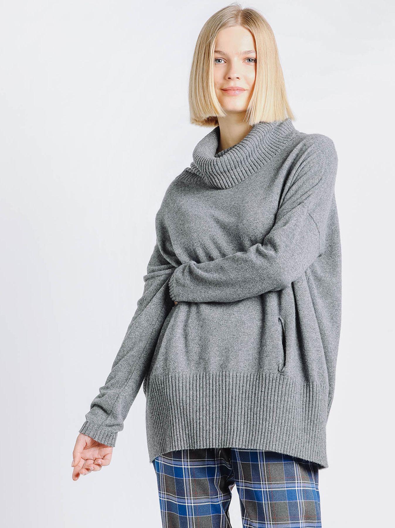 Maxi maglia collo alto