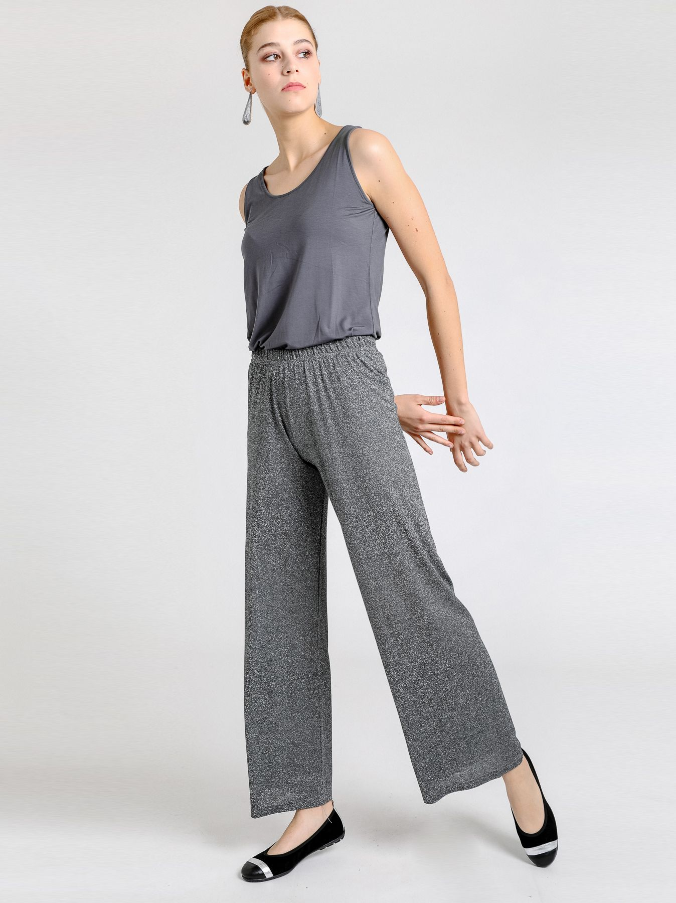Pantalone elastico in lurex