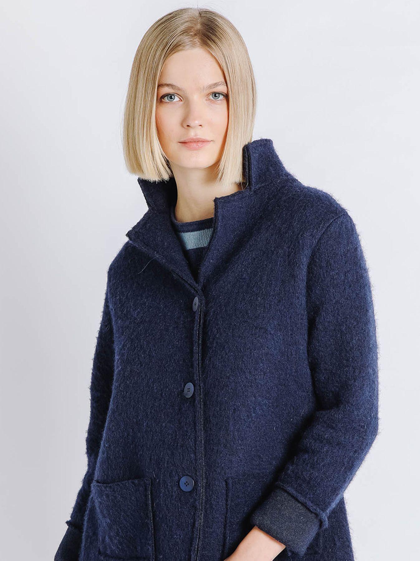 Giacca in lana cotta BLU