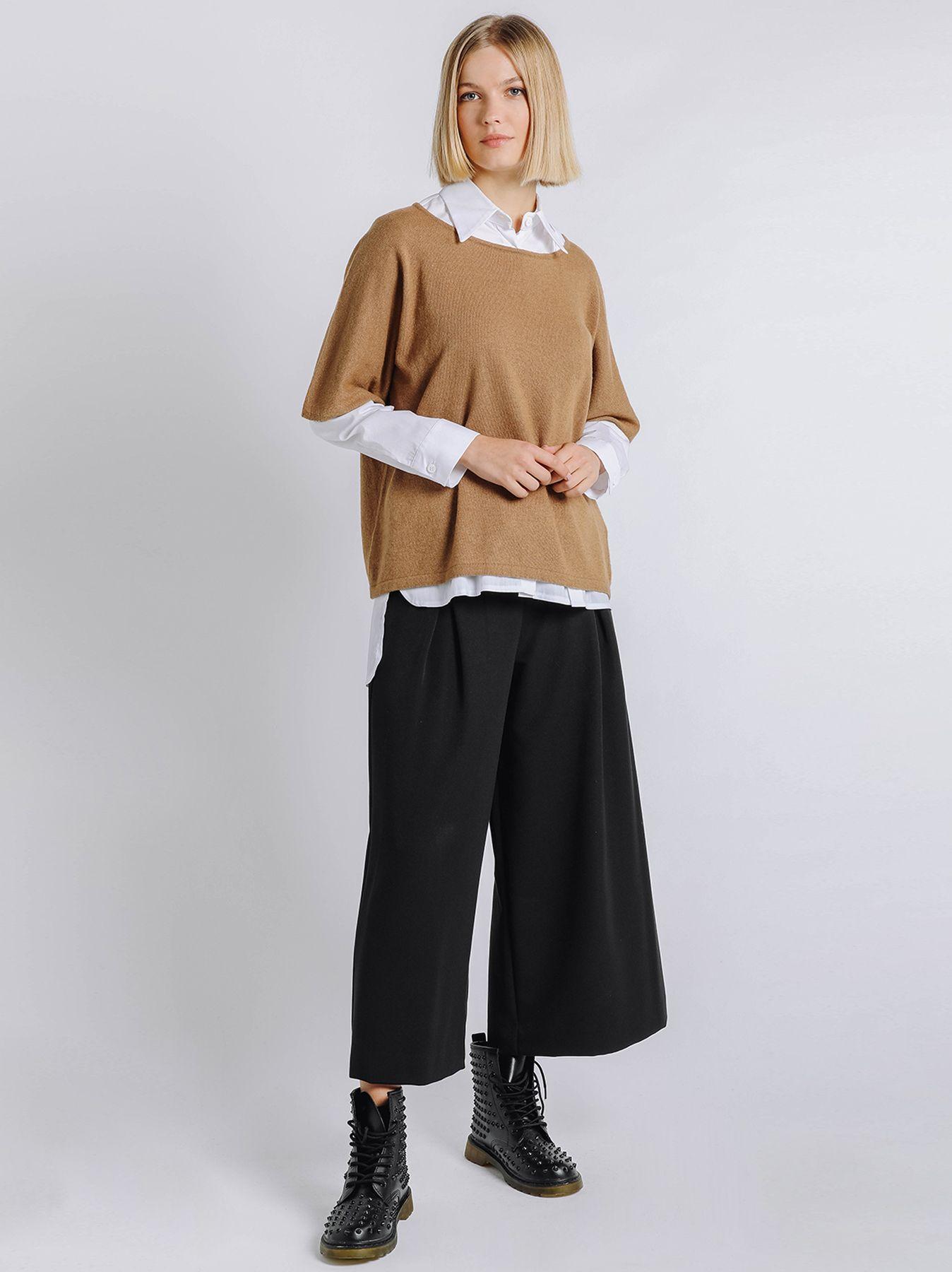 Maglia kimono con cashmere