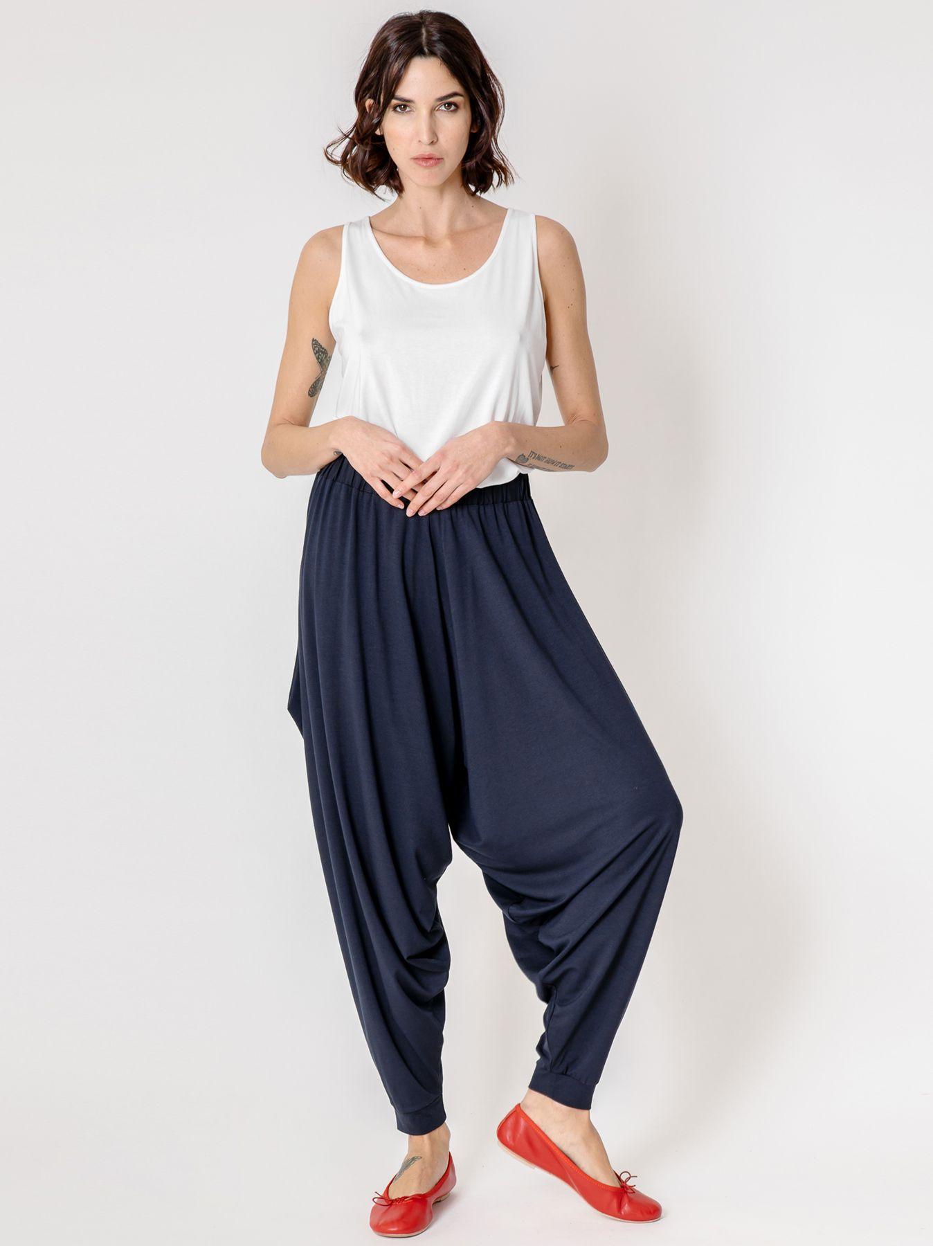 Pantalone odalisca blu