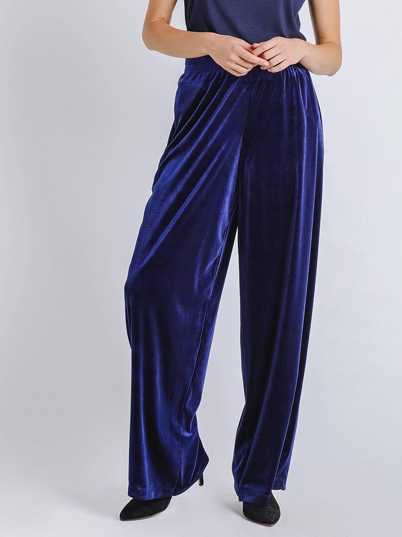 Pantalone palazzo in velluto