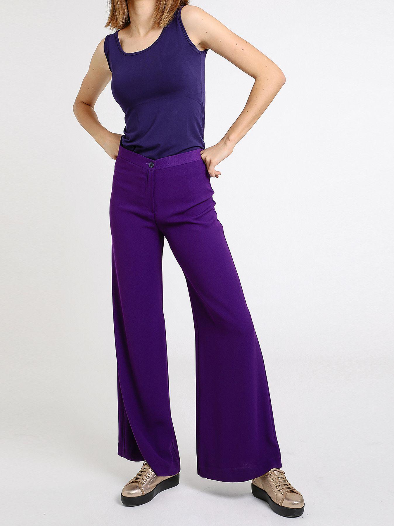 Pantalone a zampa '70 in cady