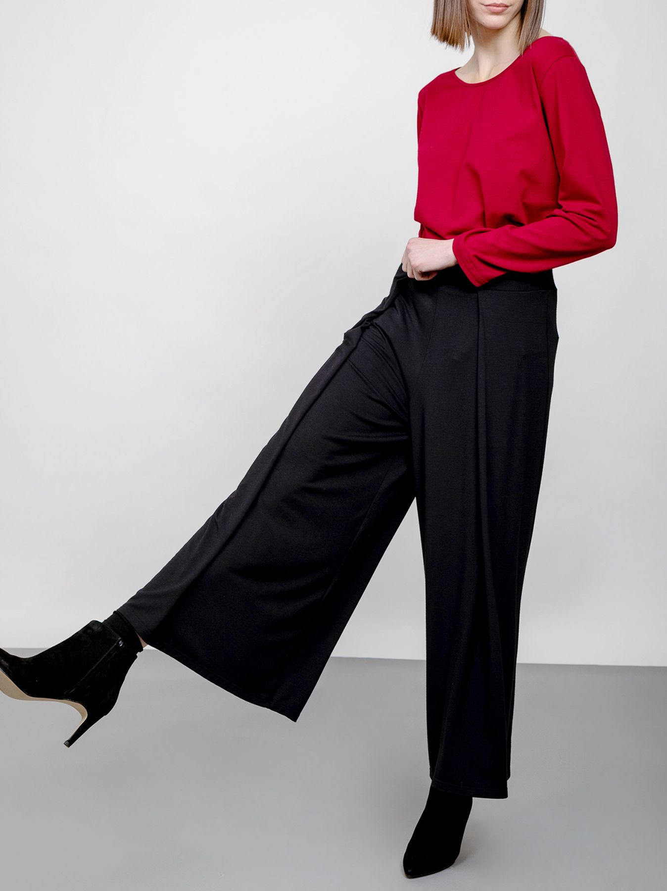 Pantalone gamba larga