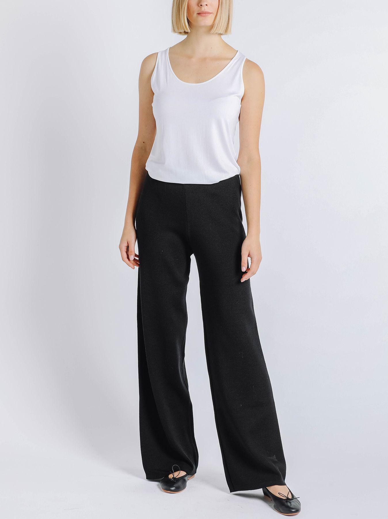 Pantalone elastico in maglia NERO