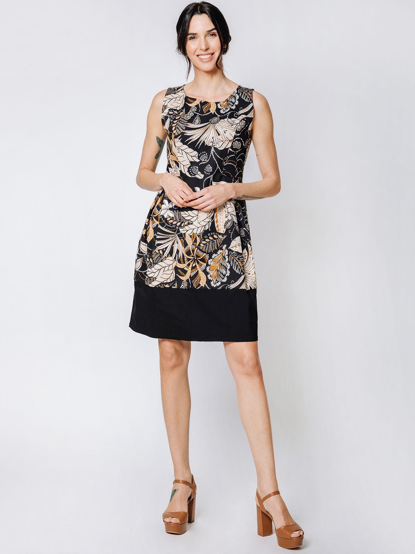 Mini dress con disegno floreale