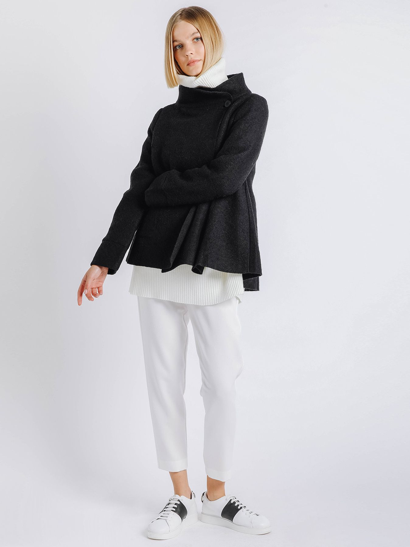 Giacca in lana cotta NERA