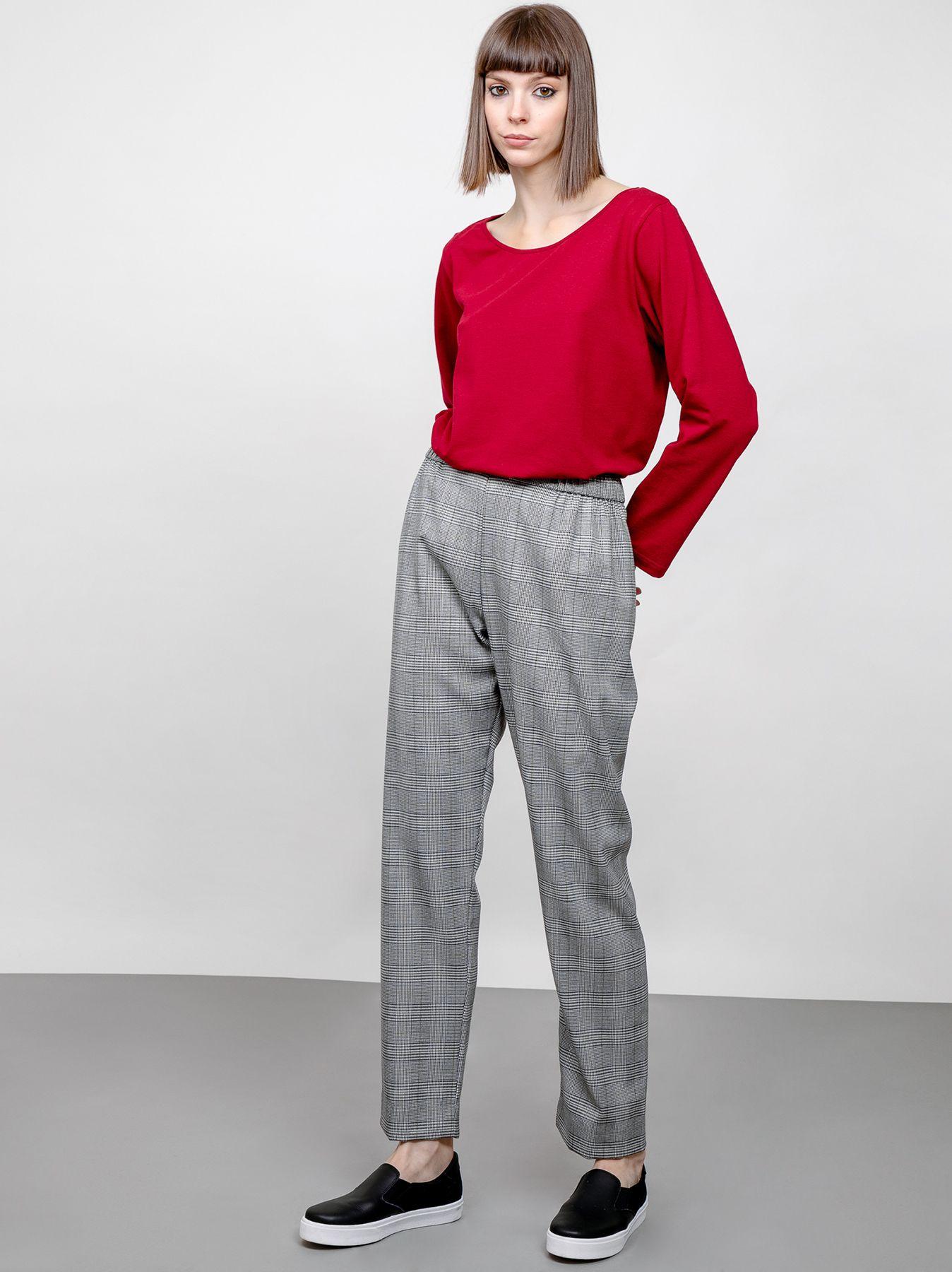 Pantalone morbido Principe di Galles
