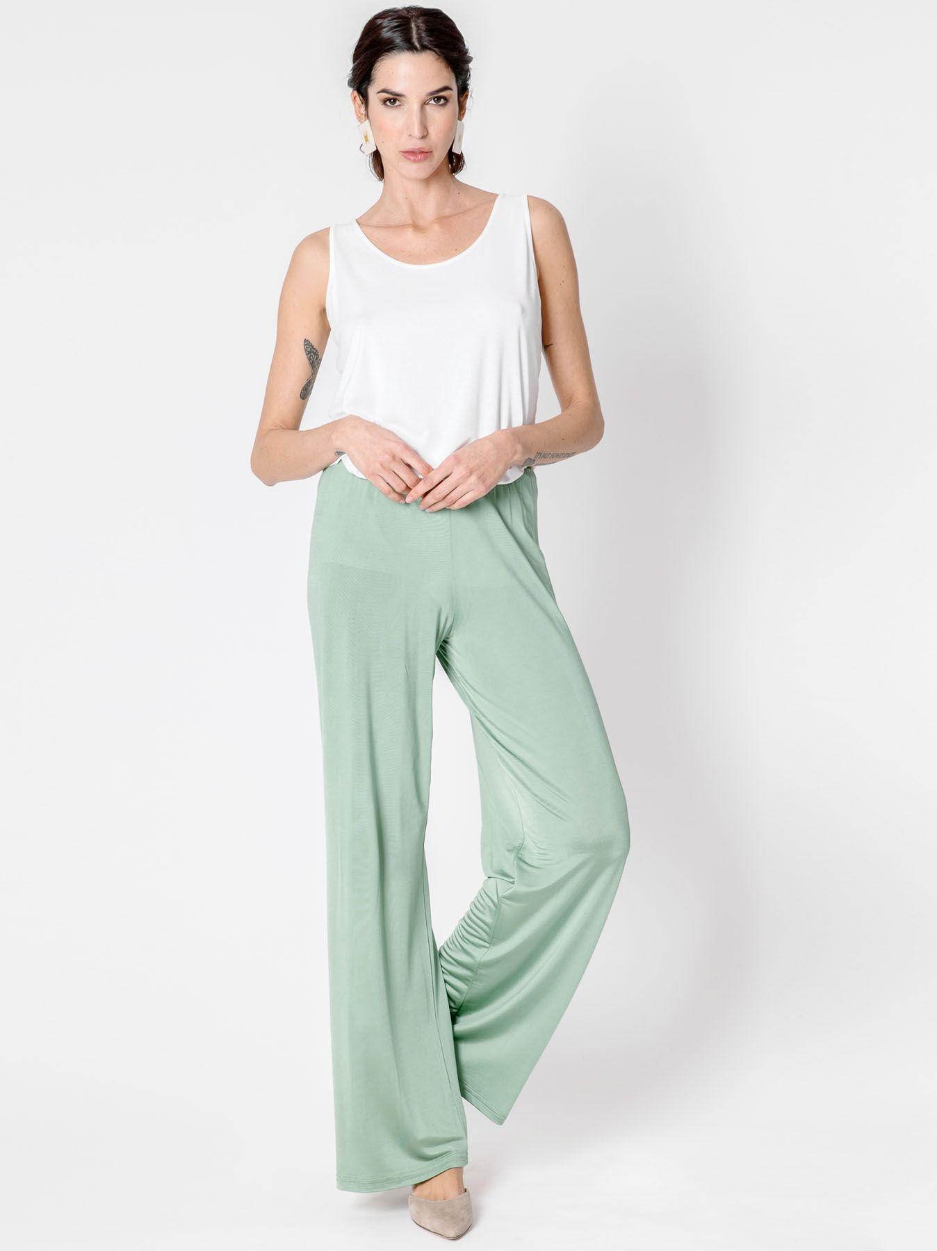 Pantalone elastico lucido
