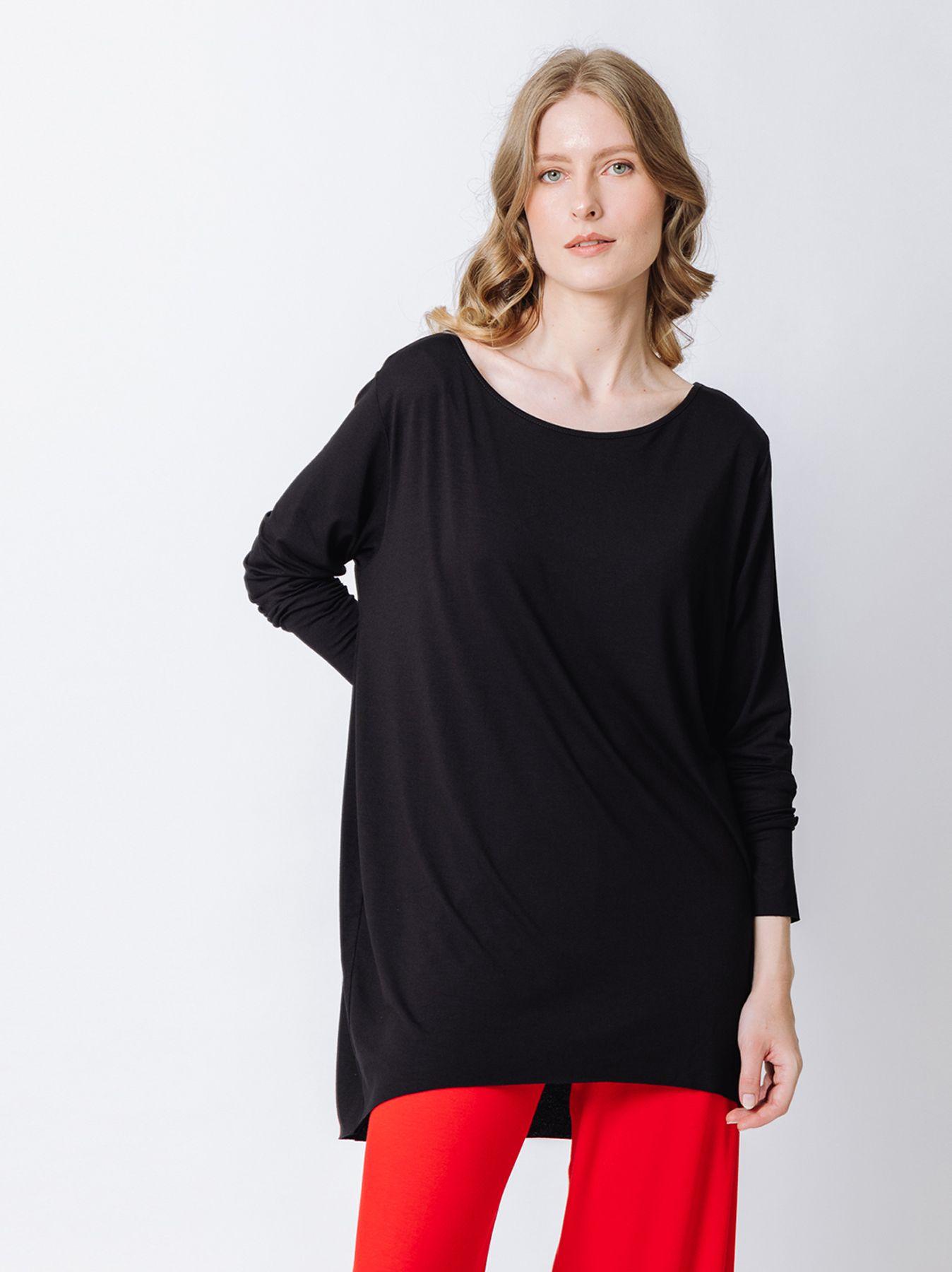 T-shirt ovetto maniche lunghe