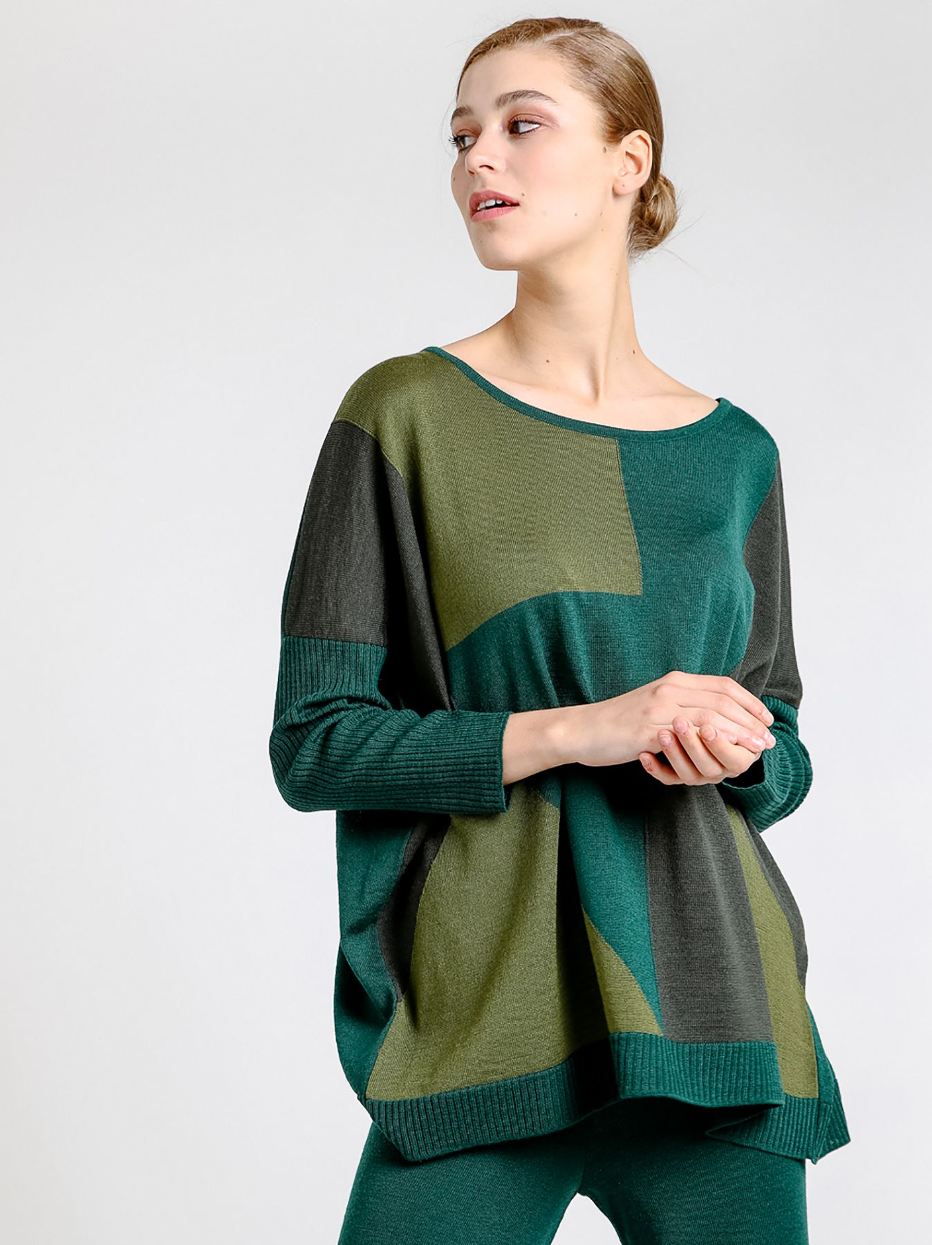 Maglia over patchwork