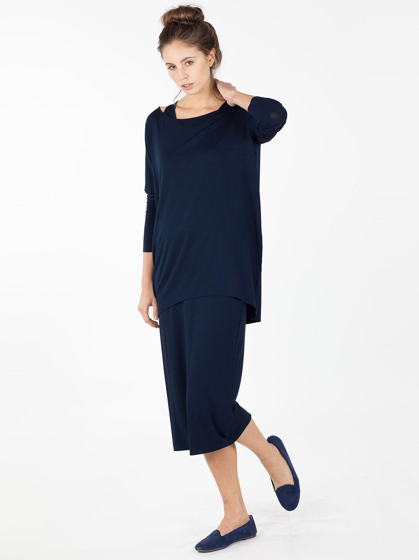 T-shirt ovetto blu