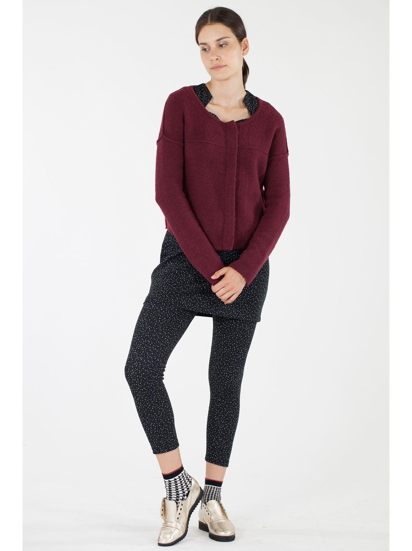 Cardigan corto in maglia con zip