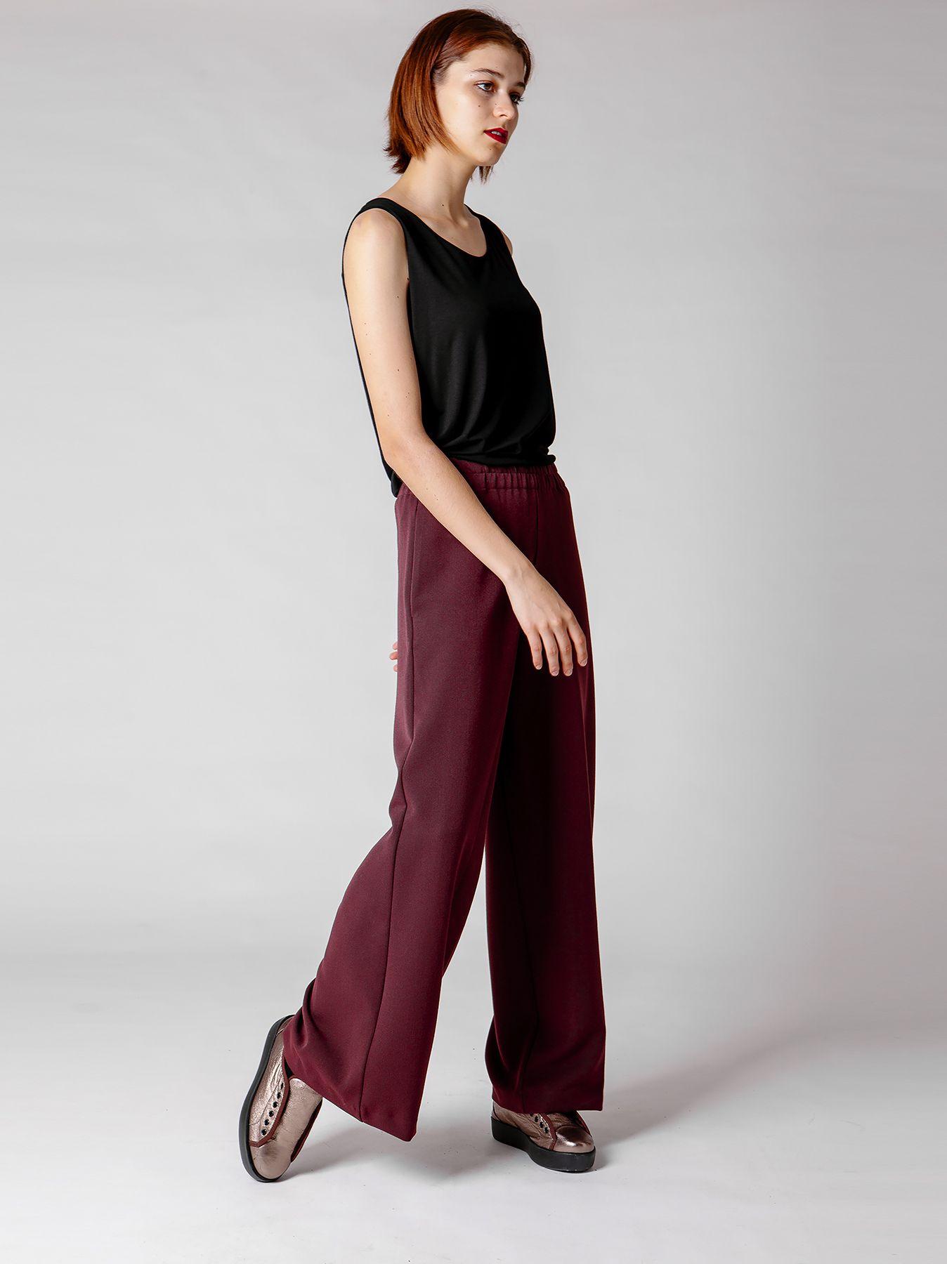 Pantalone morbido svasato