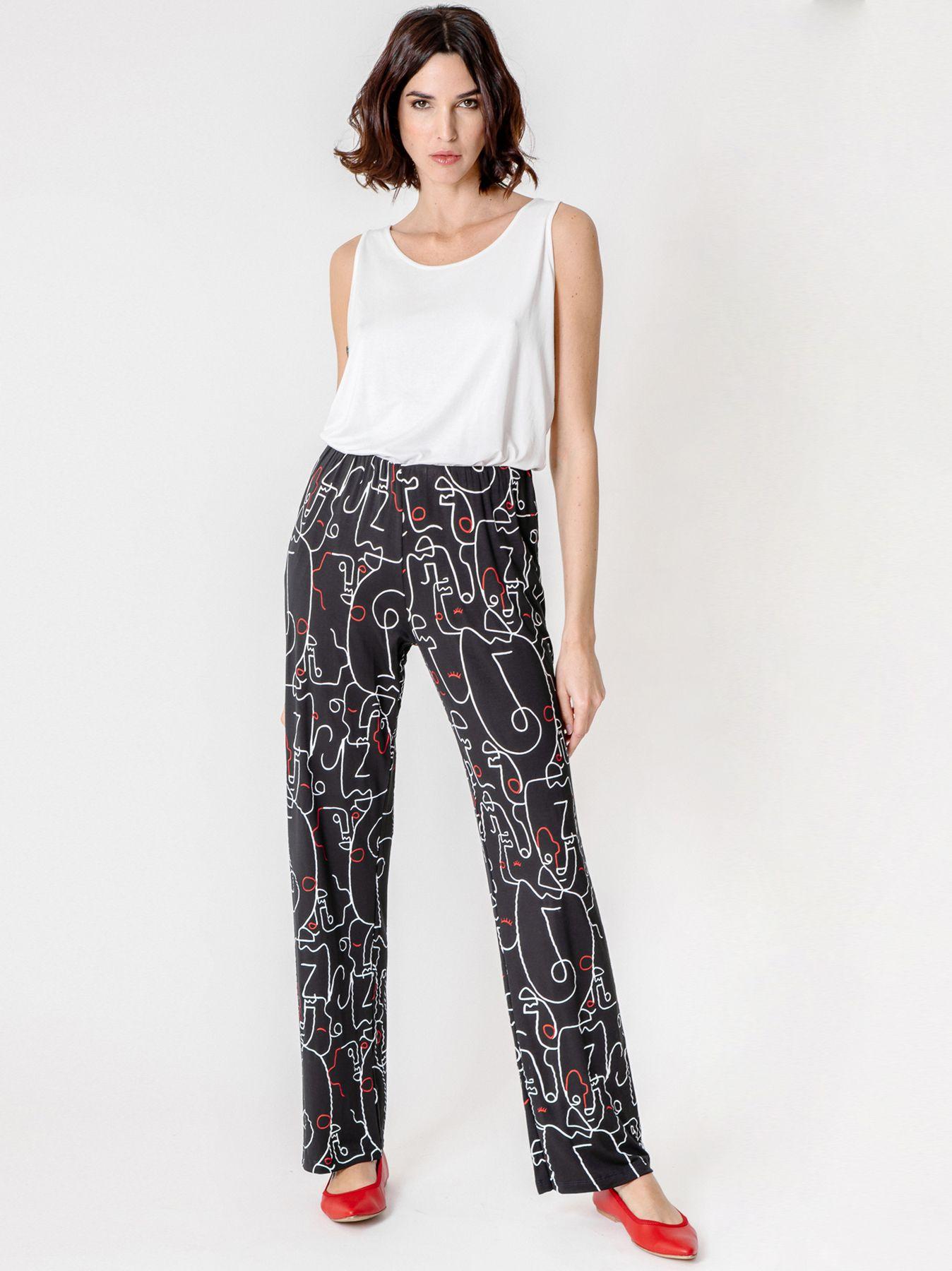 Pantalone morbido con stampa all over